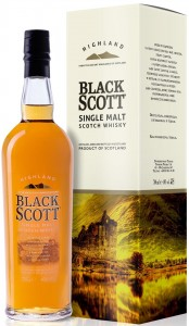 Whisky Black Scott Single Malt 40% 0,7l.