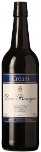 Wino Don Benigno Cream Sherry Jerez 0,75l